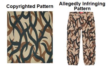 服装设计师文件起诉侵犯版权伪装设计。ASAT 诉 CHAPTER 4
