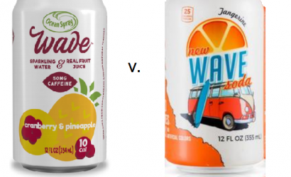 饮料制造商争夺 WAVE 作为商标。OCEAN SPRAY诉WEDGE WATER案